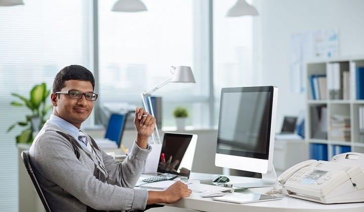 Happy Indian entrepreneur