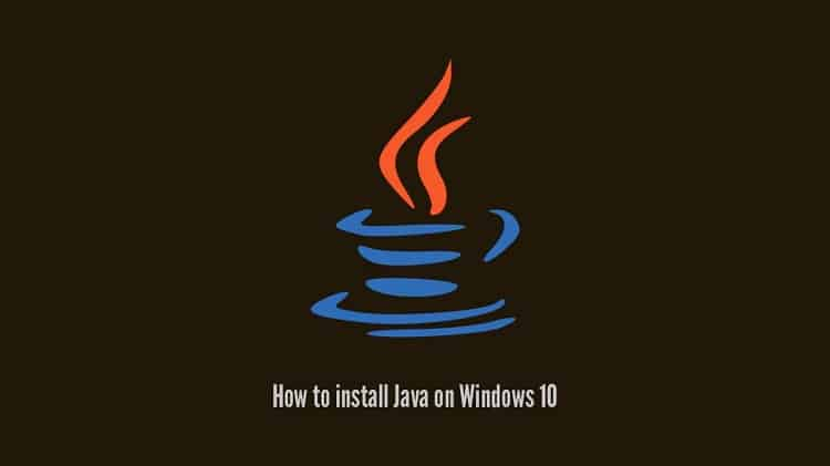 java windows 10