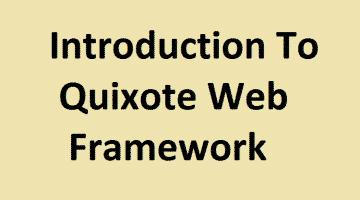 Quixote Web Framework Guide
