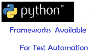 Python Frameworks for Test Automation