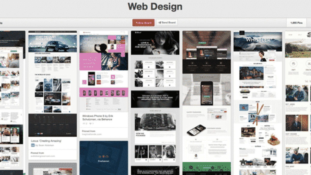 Top 10 Outstanding Web Design Pinterest Boards Web Design Seo