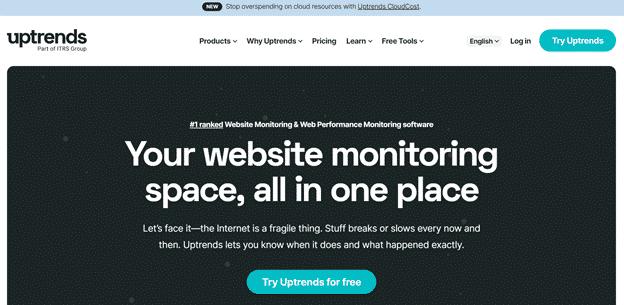 Uptrends website monitoring