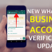 WhatsApp New Verified Business Account Features