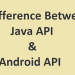 The Difference between Java API and Android API
